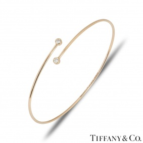 Tiffany & Co. Rose Gold Diamond Elsa Peretti Bangle